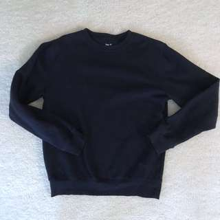 Navy Blue Oversized Crew neck Sweater