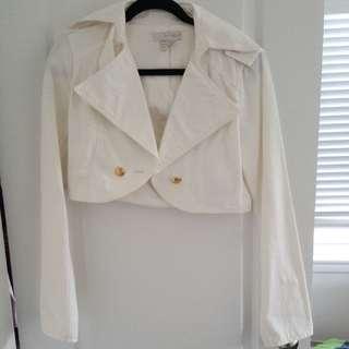 Zara's Cropped Jean Jacket Size M