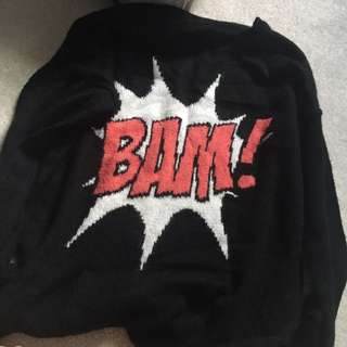 Black Bam! Knit Sweater