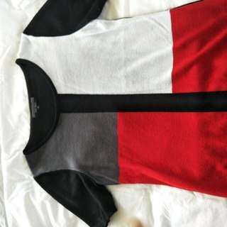 Oliver Black Block Coloured Top