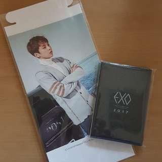 EXO wallet Calender & Xiumin Standee
