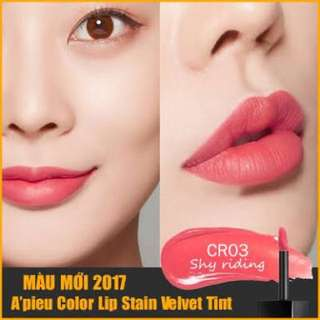 Apieu Color Lip Stain Velvet Tint CR03 Shy Riding