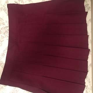 American Apparel High Waisted Burgundy Skirt