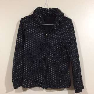 Black And White Polka Dotta Zigzag Jacket
