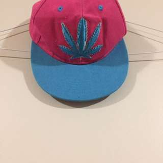 Pink And blue Fitted Cap