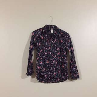 Gap Flower Woman Shirt