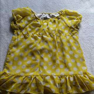 Yellow dress 2t