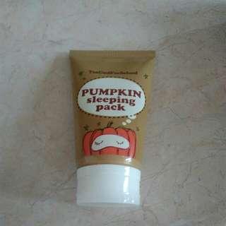 Too Cool For School Pumpkin Sleeping Mask (Fix Price)
