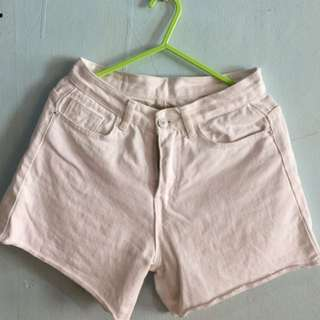 White High Waist Short