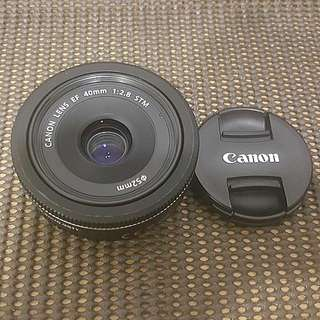 Used Canon Lens 40mm F2.8 Stm