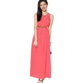 Love Bonito Mathilda Maxi Dress in Hot Pink XS