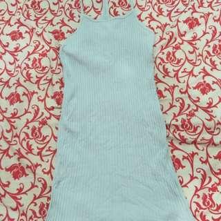 Rib Halter Dress