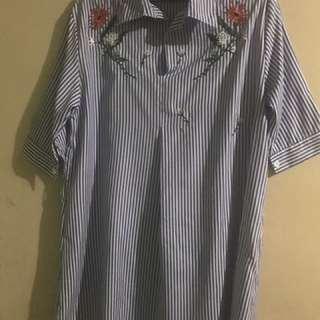 Blue Stripes Polo Dress