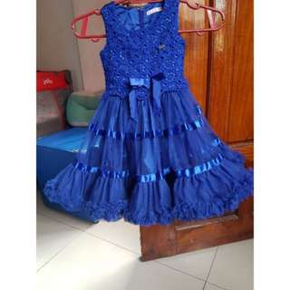 Kids Gown Royal Blue