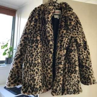 leopard print coat supre