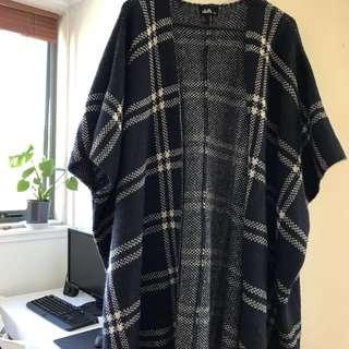 dotti long poncho-like coat
