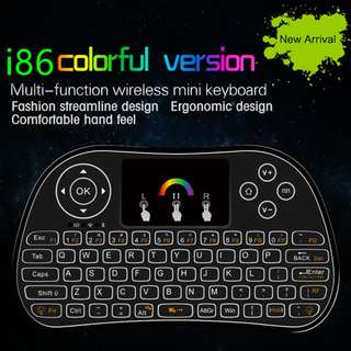NEW 2.4Hz Colourful Backlit Air Mouse Wireless Mini Keyboard Remote Control