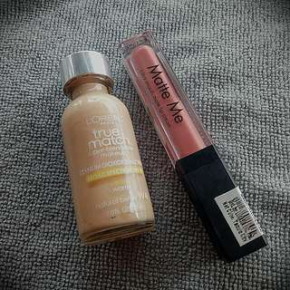 Sleek Matte me Birthday Suit And Loreal True Match W4