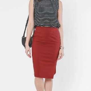 Sylvanka Zip Midi Skirt From Love Bonito