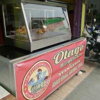 Etalase Second Jual Ayam Fried Chicken