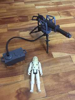 Vintage Kenner Star Wars Snow Trooper with Blaster Cannon