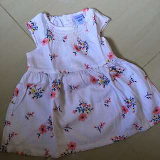 ORI CARTERS DRESS SIZE 6m