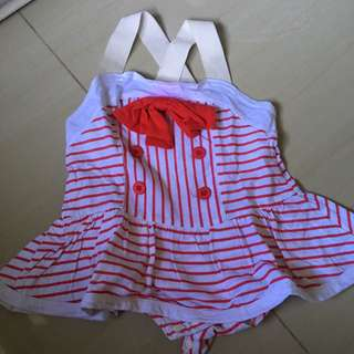 Dress Bodysuit Impor Korea Size 9m