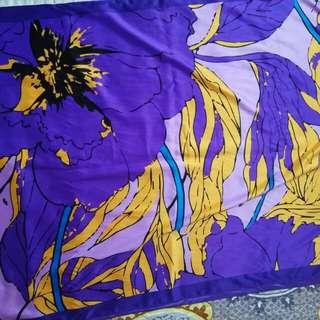 Purple Satin Shawl
