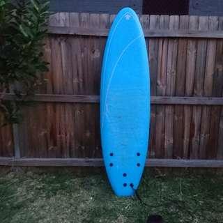 Blue Softech Surfboard Softboard