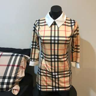 burberry styled dress