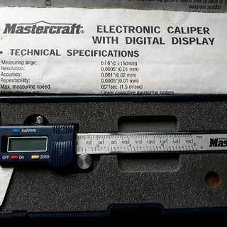 ELECTRONIC CALIPER WITH DIGITAL DISPLAY by MASTERCRAFT