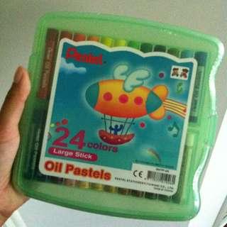New Pentel 24 Oil Pastels Pack