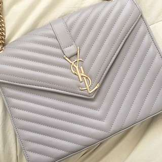 YSL Grey Handbag / Cross Body Bag