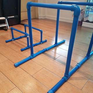 Parallette Set For Dips And Pushups For Calisthenics Bodyweight Training