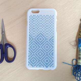 Embroidery Iphone case! 民族圖騰手機殻 白色  手工 // 工藝主義