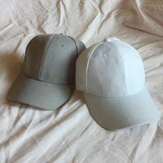 Grey & White Caps