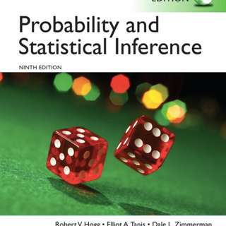 Ebook: Probability and Statistical Inference, Ninth Edition, 2015. H,T&Z: Hogg, R. V., Tanis E. A. and Zimmerman D. L,