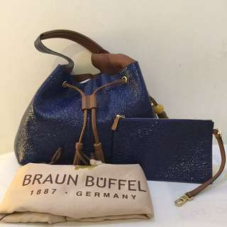 PRELOVED Braun Buffel Riad 20 Bucket/Tote Bag