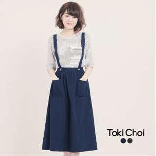 「東京著衣」大口袋長裙 吊帶可拆