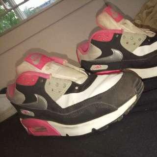 Nike Air Max 90 White/Metallic Silver/Black/Hyper Pink