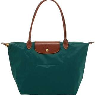 AUTHENTIC Longchamp Le Pliage Green Large Tote