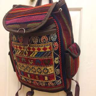 Turkish Handmade Carpet Design Bag