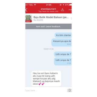 Testimoni From Our Lovely Customer. Thanks For Shopping❤️❤️❤️