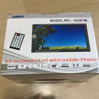 BNIB Car Double Din Player