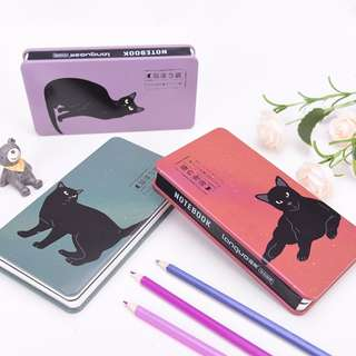 Black Cat Tin-Cover Mixed Notebook