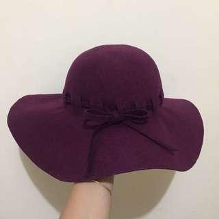Purple Wine Colour Hat