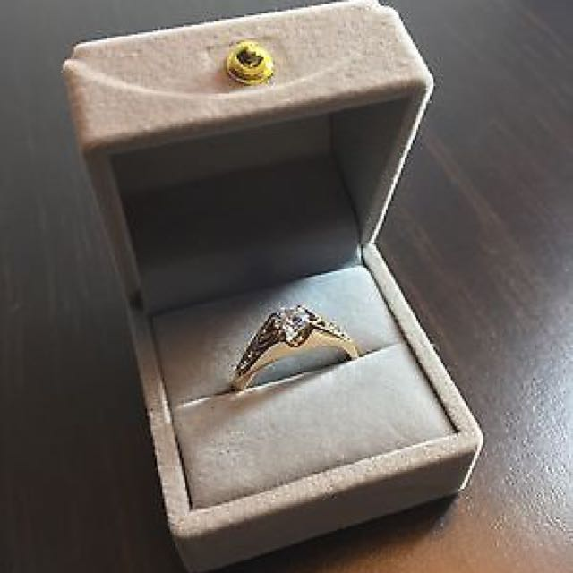 18K Rose Gold GP Ring Brand NEW