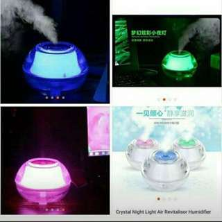 Crystal Night Humidifier W/ Light