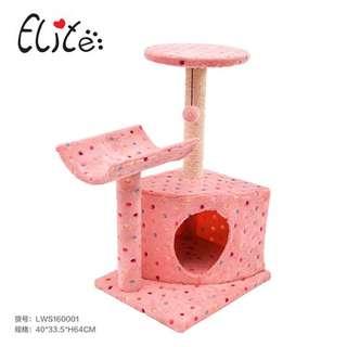 免運費【全新品出清】ELITE貓跳台(藍色)LWS160001