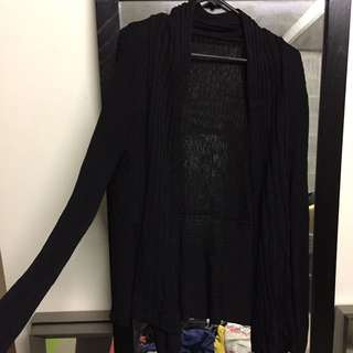 Sheer Black Cardigan